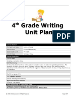 unitplan4thgradewriting