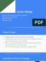 electronic urine meter final presentation