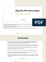 Understanding the PDA Pile Stress Wave