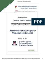 interprofessional emergency preparedness