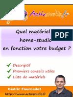 Quel Matériel de Home Studio en Fonction de Votre Budget 2