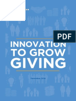 Innovation to Grow Giving