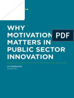 Why motivation matters in public sector innovation