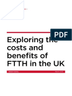 Exploring the costs and benefits of fibre to the home (FTTH) in the UK