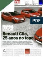"""25 ANOS DE HISTÓRIA DO RENAULT CLIO NA """"AUTO FOCO"""""""