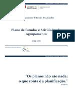 Plano de Estudo e de Atividades 2015-2016