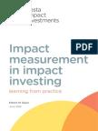 Impact Measurement in Impact Investing (1)