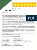 Letter From BOE SK