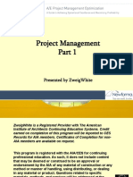 A/E Project Management Optimization Part one