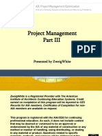 A/E Project Management Optimization Part Three