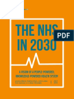 The NHS in 2030 - A People-powered and Knowledge-powered Health System