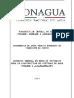 Catalogo de Precios Agua Potable y Drenaje 2013-Libre