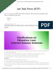 Education Loan Task Force (ELTF)_ Clarifications on Education Loan Interest Subsidy Scheme (CSIS)