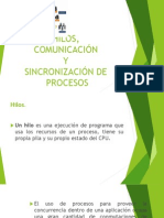 Hilos y Sincronizacion de Procesos