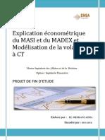 explication économétrique du MASI/MADEX