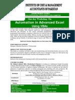 Workshop on Advances Excel Using VBA's