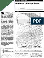 Fluid Viscosity Effects in Centrifugal Pump