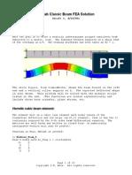 MatlabClassicBeamFEA Solution