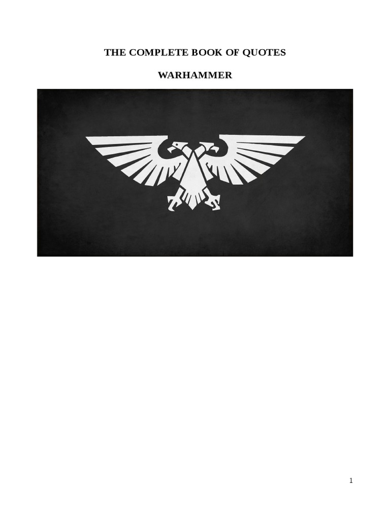 The Complete Book Of Quotes Warhammer Unrest