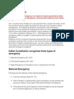 5i. Polity - Emergency Provisions