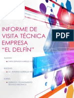 Informe Visita Técnica Fábrica El Delfín