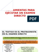 HERRAMIENTAS PARA REALIZAR UN CORRECTO EXAMEN DIRECTO