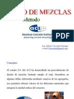Diseño de Mezcla - Aci