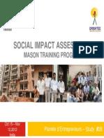 SIA Study Drishtee Mason Training Program Final Report