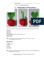 Heart Cactus Free Amigurumi Crochet Pattern