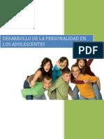 DESARROLLO DE LA PERSONALIDAD EN LOS ADOLESCENTES