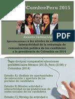 Interactividad en las Campañas presidenciales en internet en Colombia 2014