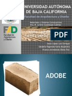 Adobe, Ladrillo de Barro Cocido y Ladrillo Comprimido