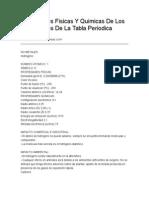 Propiedades Fisicas Y Quimicas de Los Elementos de La Tabla Periodica