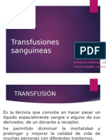 Transfusiones sanguíneas