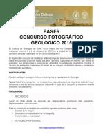 Bases Concurso Fotografico Congreso Geológico