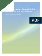 Charla con Rupert Spira Septiembre 2012