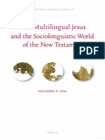 The Multilingual Jesus and the Sociolinguistic World of the New Testament