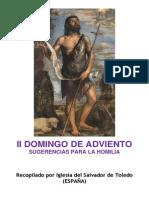 II Domingo de Adviento.  Sugerencias para la homilía. Forma Extraordinaria del Rito Romano.
