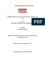 Los Ejes Transversales, Innovaciones y Politicas Educativas