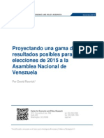 Proyectando una gama de resultados posibles para las elecciones de 2015 a la Asamblea Nacional de Venezuela