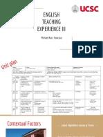 english teaching iii mdds