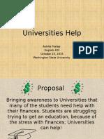 universities help