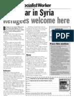 no war in syria - general leaflet