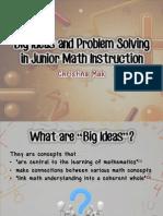 l - big ideas and problem solving in junior math