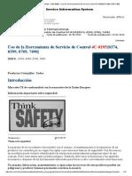 Uso de La Herramienta de Servicio de Control 4C-8195{0374, 0599, 0709, 7490}