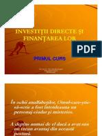 Primul Curs Investitii Directe Id