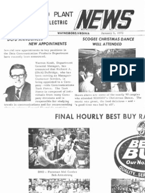 GE Waynesboro Plant News (1973) | Business | Wellness