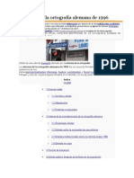 Reforma de La Ortografía Alemana de 1996