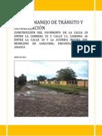 plan de manejo de transito y señalizacion