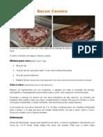 Receita Bacon Caseiro